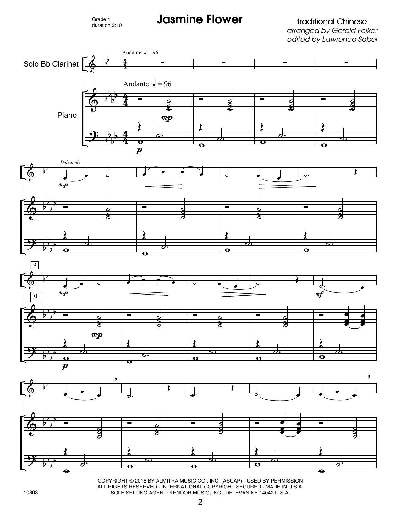 Kendor Debut Solos - Bb Clarinet - Piano Accompaniment Sheet Music