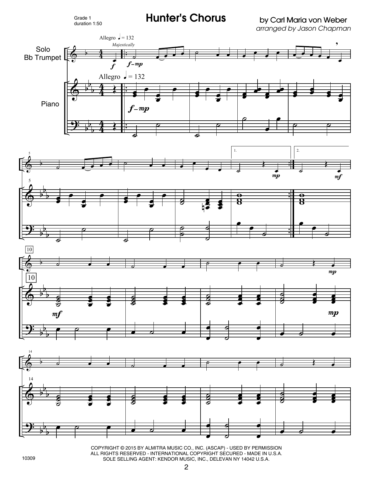 Kendor Debut Solos - Bb Trumpet - Piano Accompaniment Sheet Music