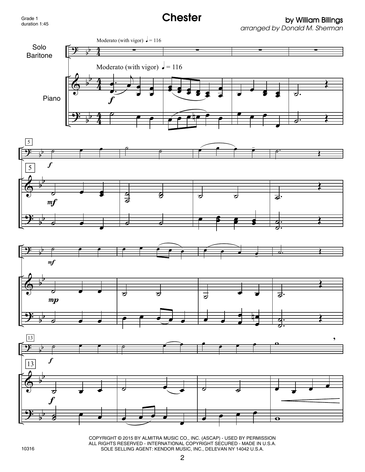 Kendor Debut Solos - Baritone T.C. & B.C. - Piano Accompaniment Sheet Music