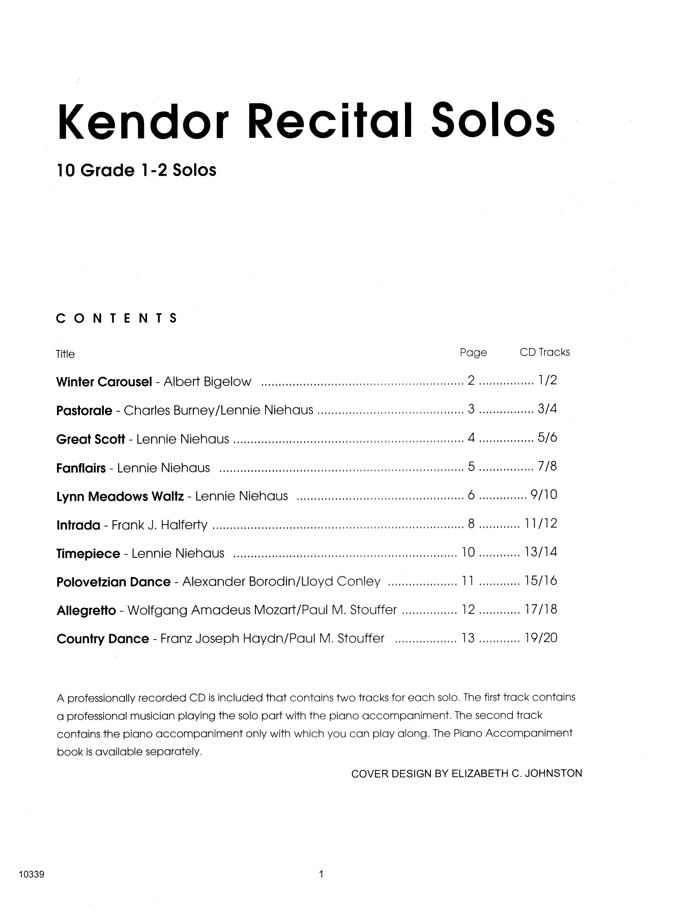 Kendor Recital Solos - Bb Trumpet - Solo Book Sheet Music
