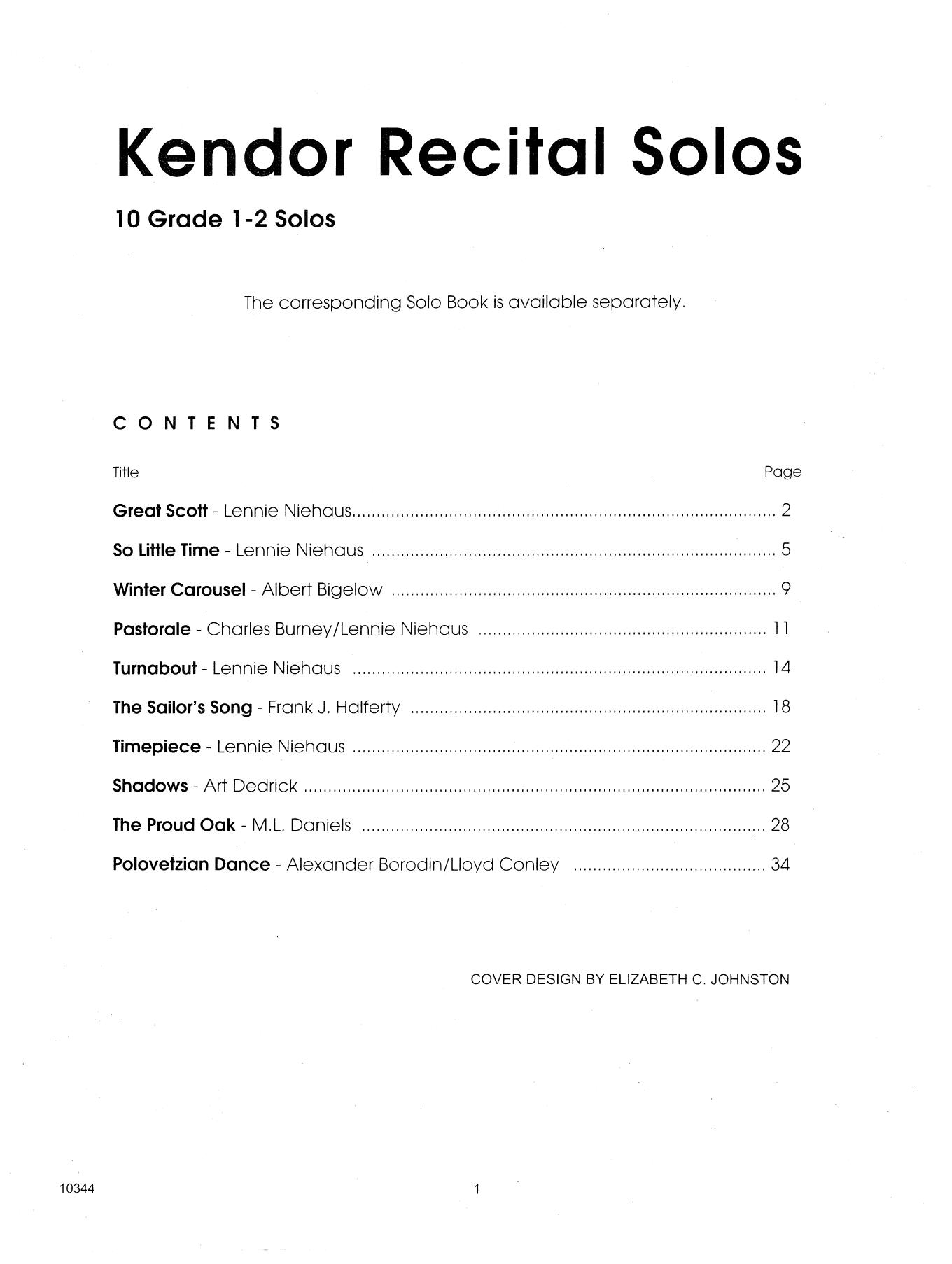 Kendor Recital Solos - Trombone - Piano Accompaniment Sheet Music