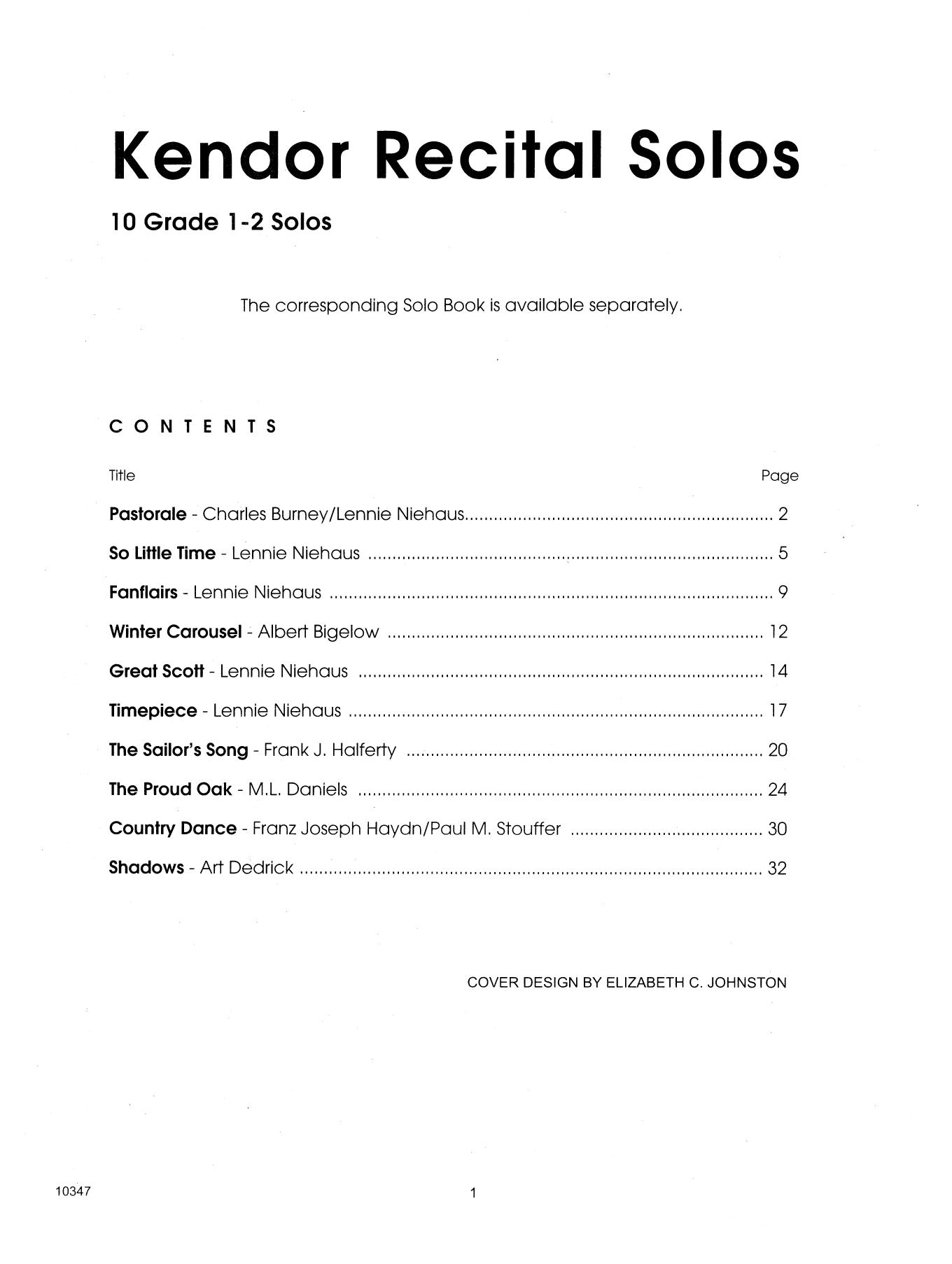 Kendor Recital Solos - Baritone - Piano Accompaniment Sheet Music