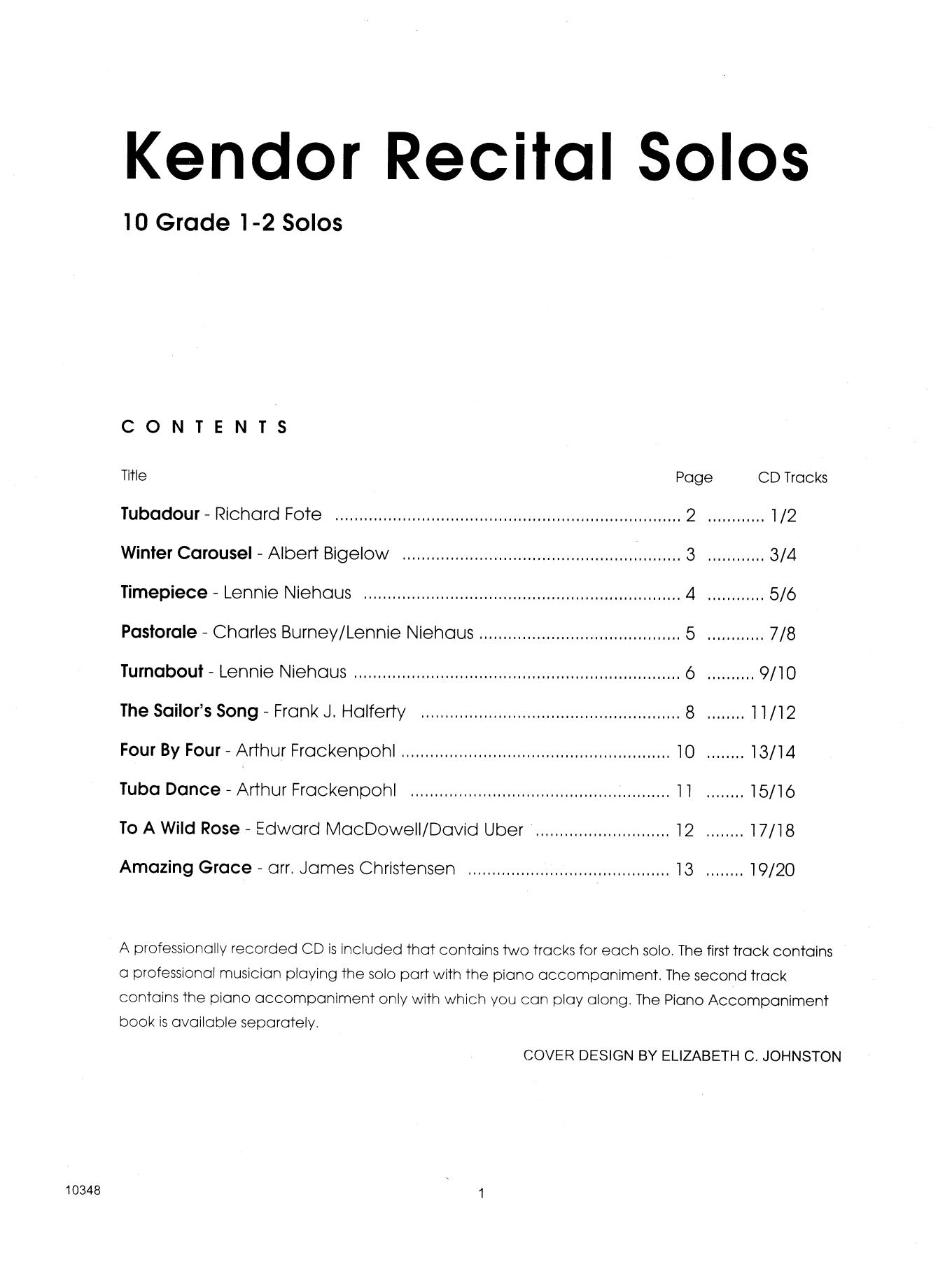 Kendor Recital Solos - Tuba - Solo Book Sheet Music