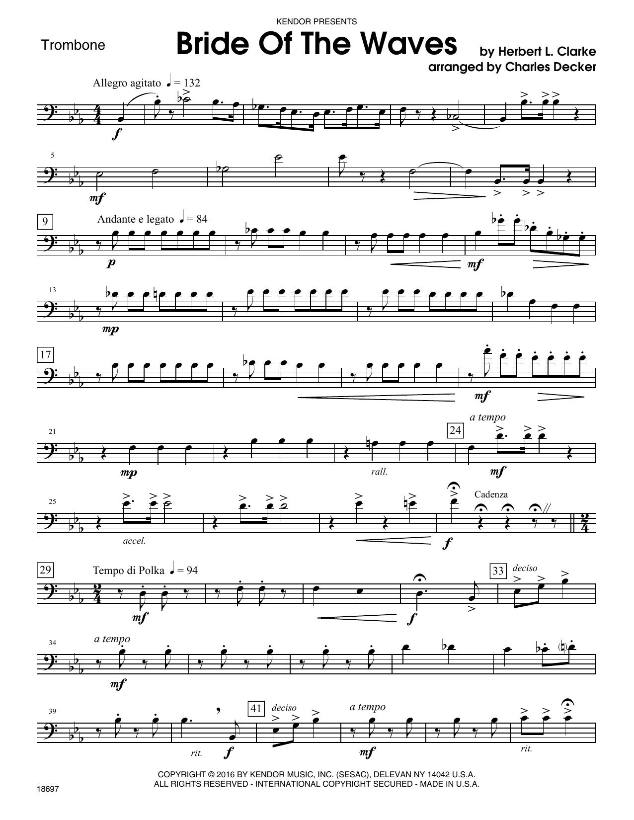 Bride Of The Waves - Trombone Sheet Music
