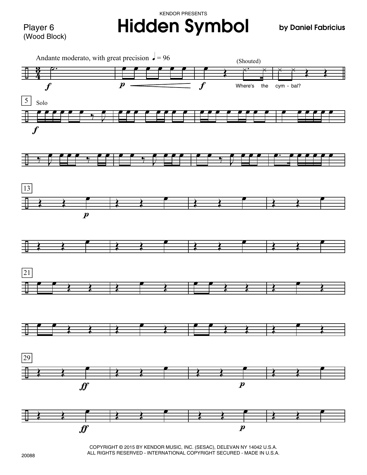 Hidden Symbol Percussion 6 Sheet Music Direct