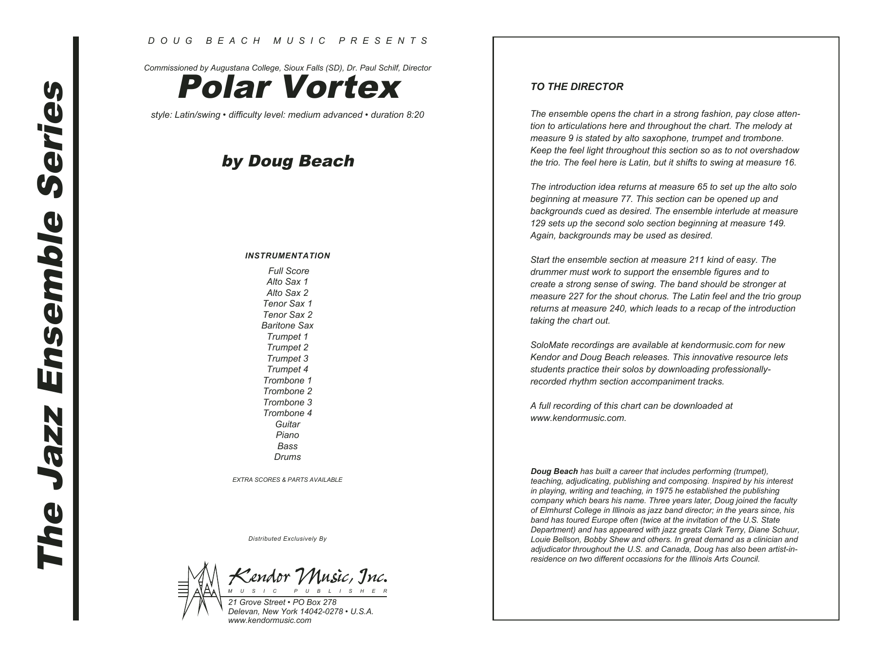 Polar Vortex (COMPLETE) sheet music for jazz band by Doug Beach. Score Image Preview.