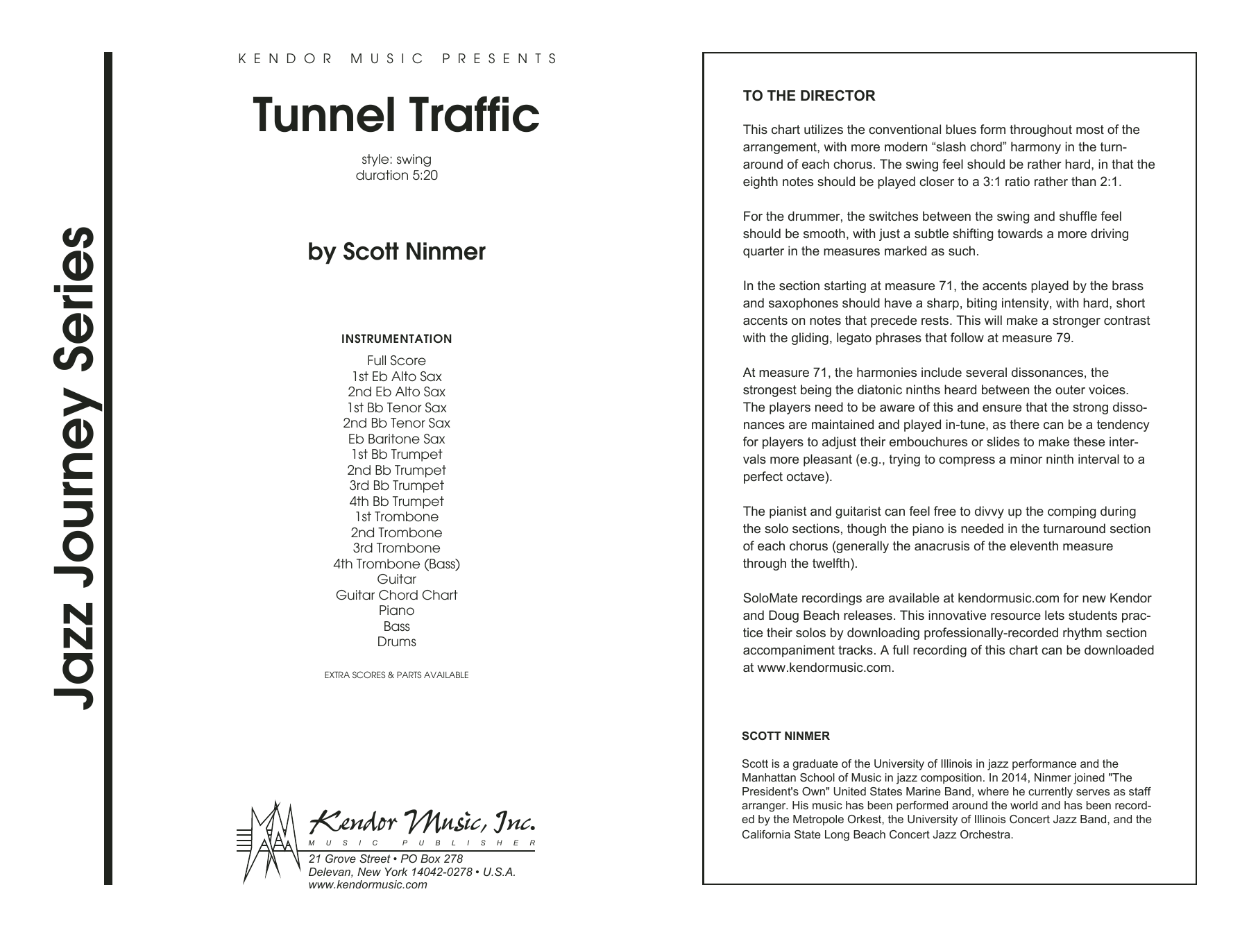 Tunnel Traffic (COMPLETE) sheet music for jazz band by Ninmer. Score Image Preview.