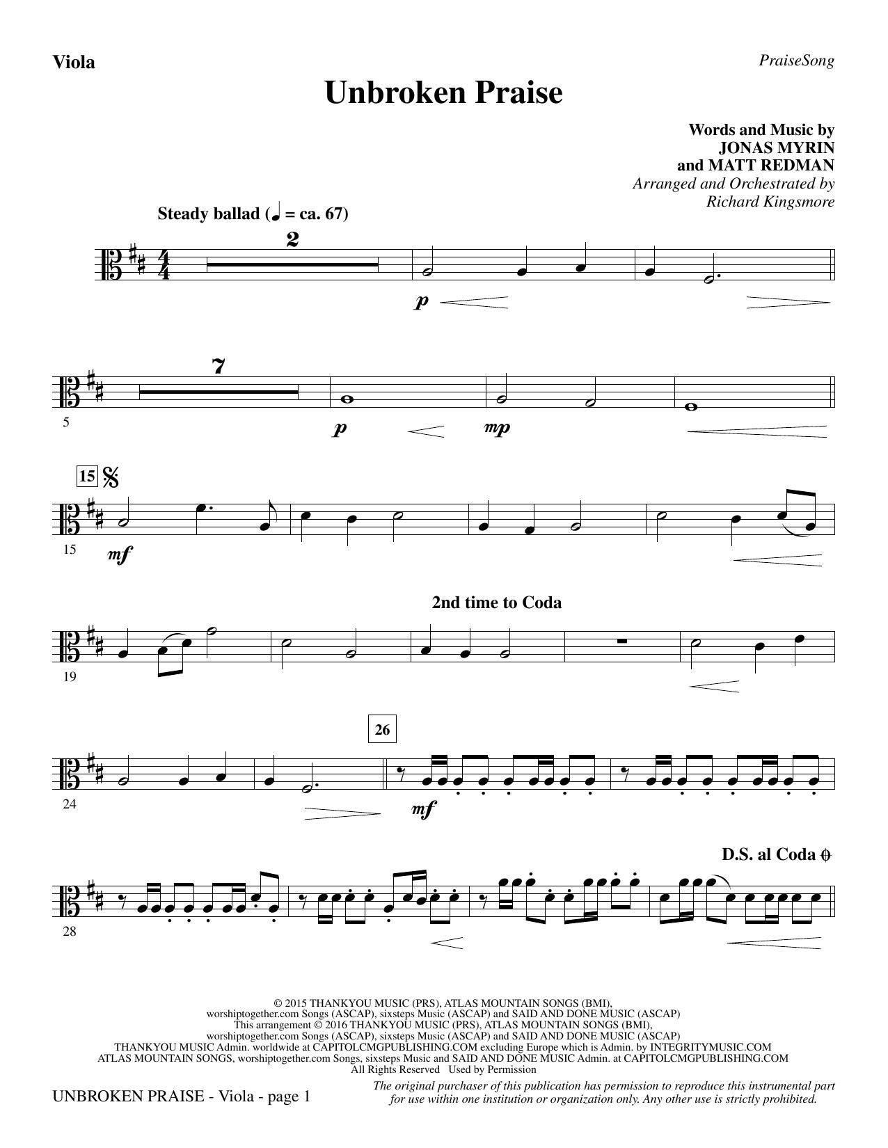 Unbroken Praise - Viola (Choir Instrumental Pak)