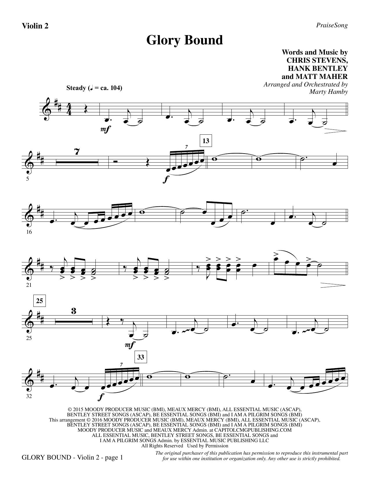 Glory Bound - Violin 2 (Choir Instrumental Pak)