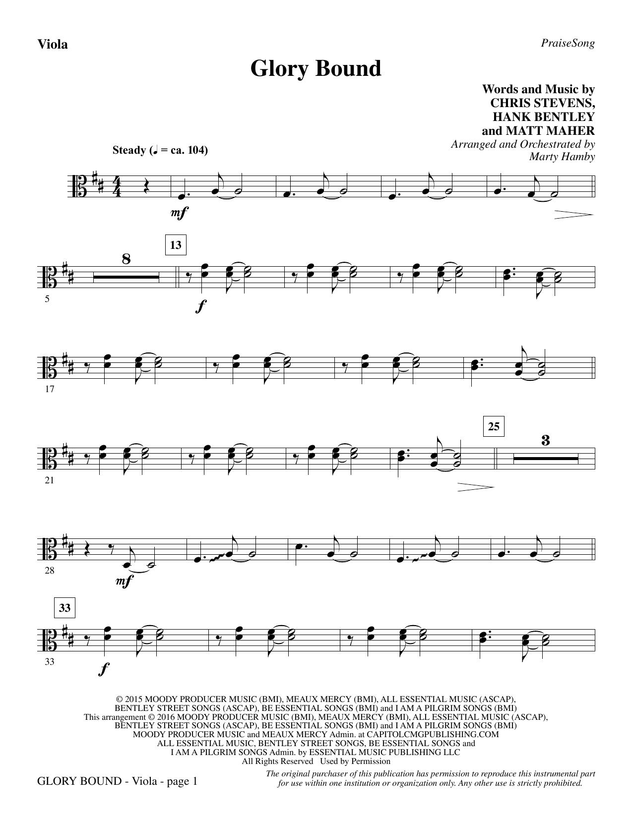 Glory Bound - Viola (Choir Instrumental Pak)