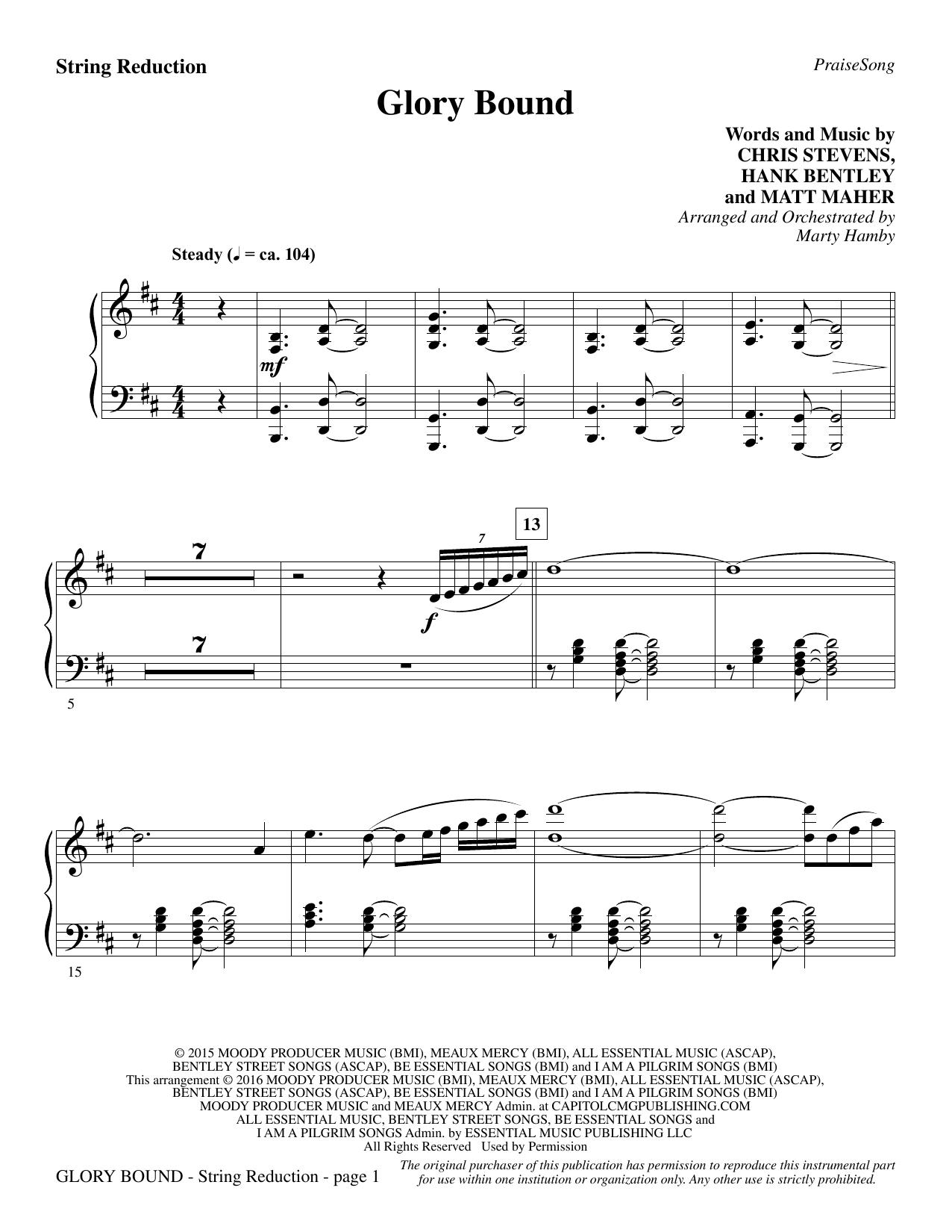 Glory Bound - Keyboard String Reduction (Choir Instrumental Pak)