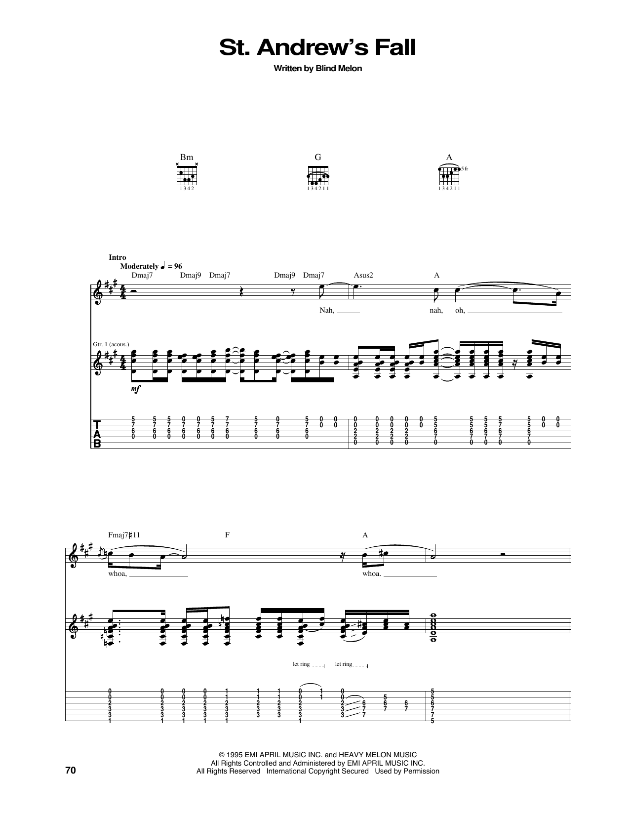 St. Andrew's Fall Sheet Music