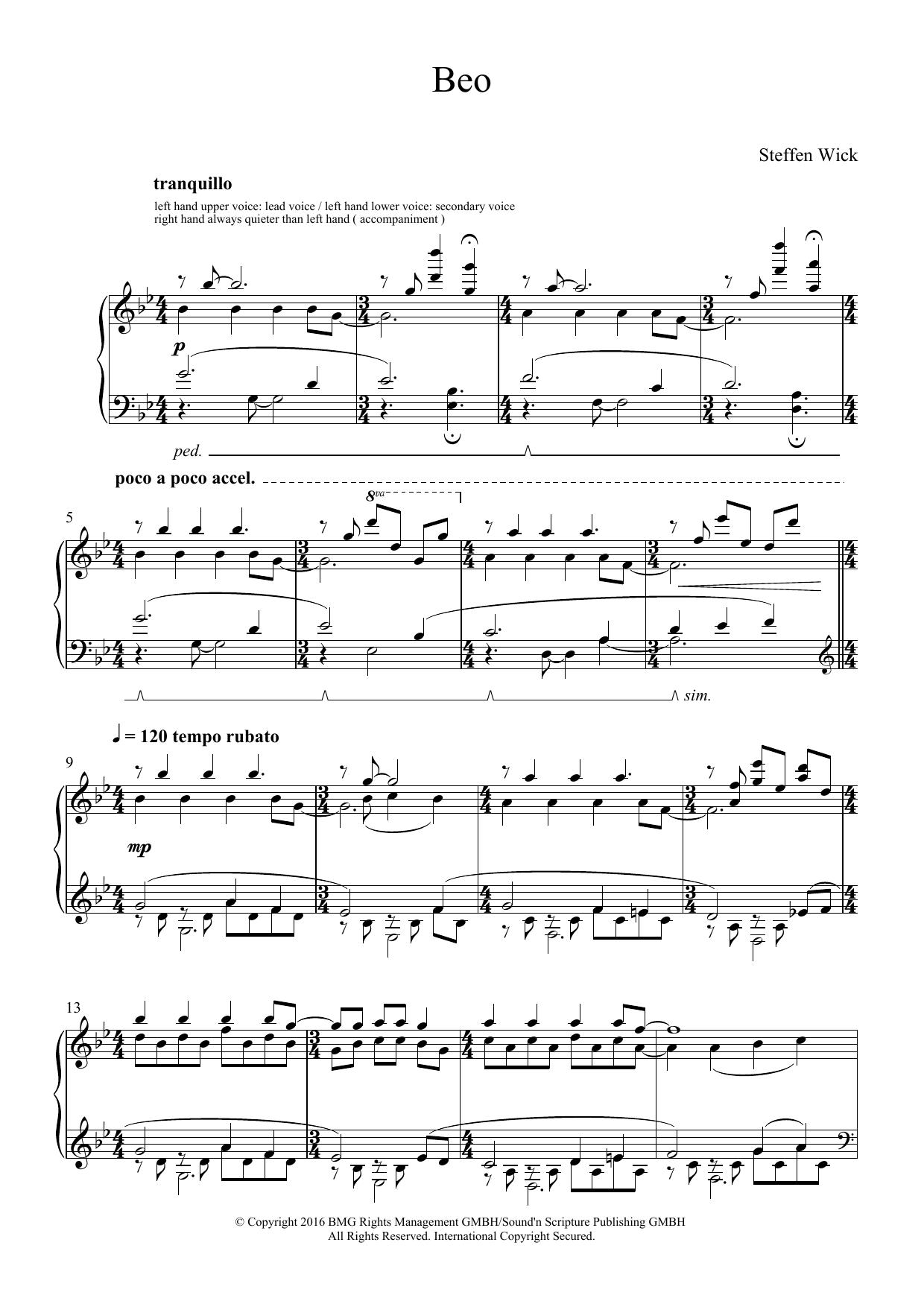Beo Sheet Music