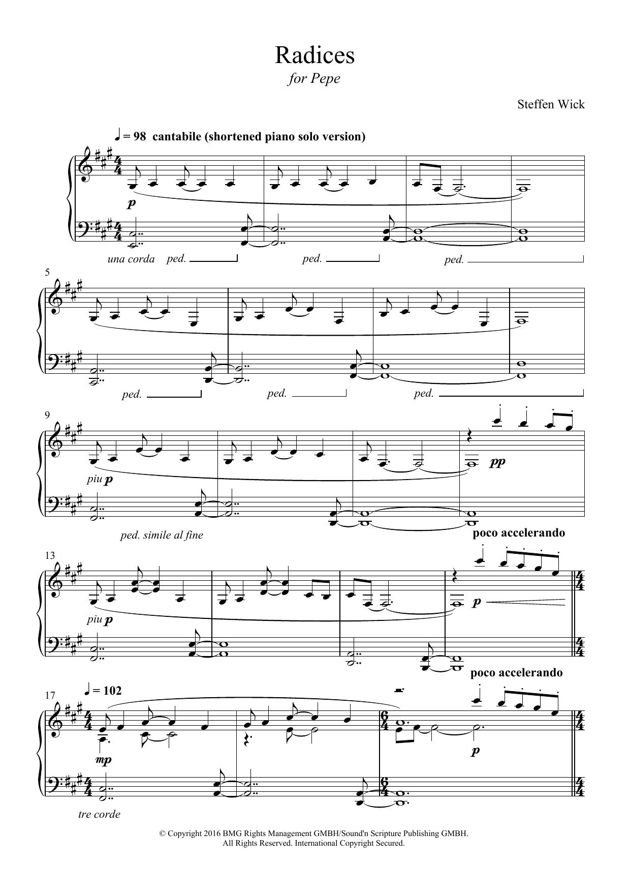 Radices Sheet Music