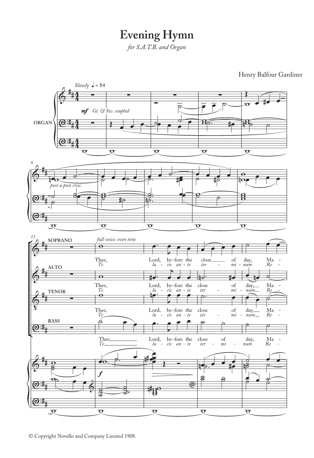Evening Hymn Sheet Music