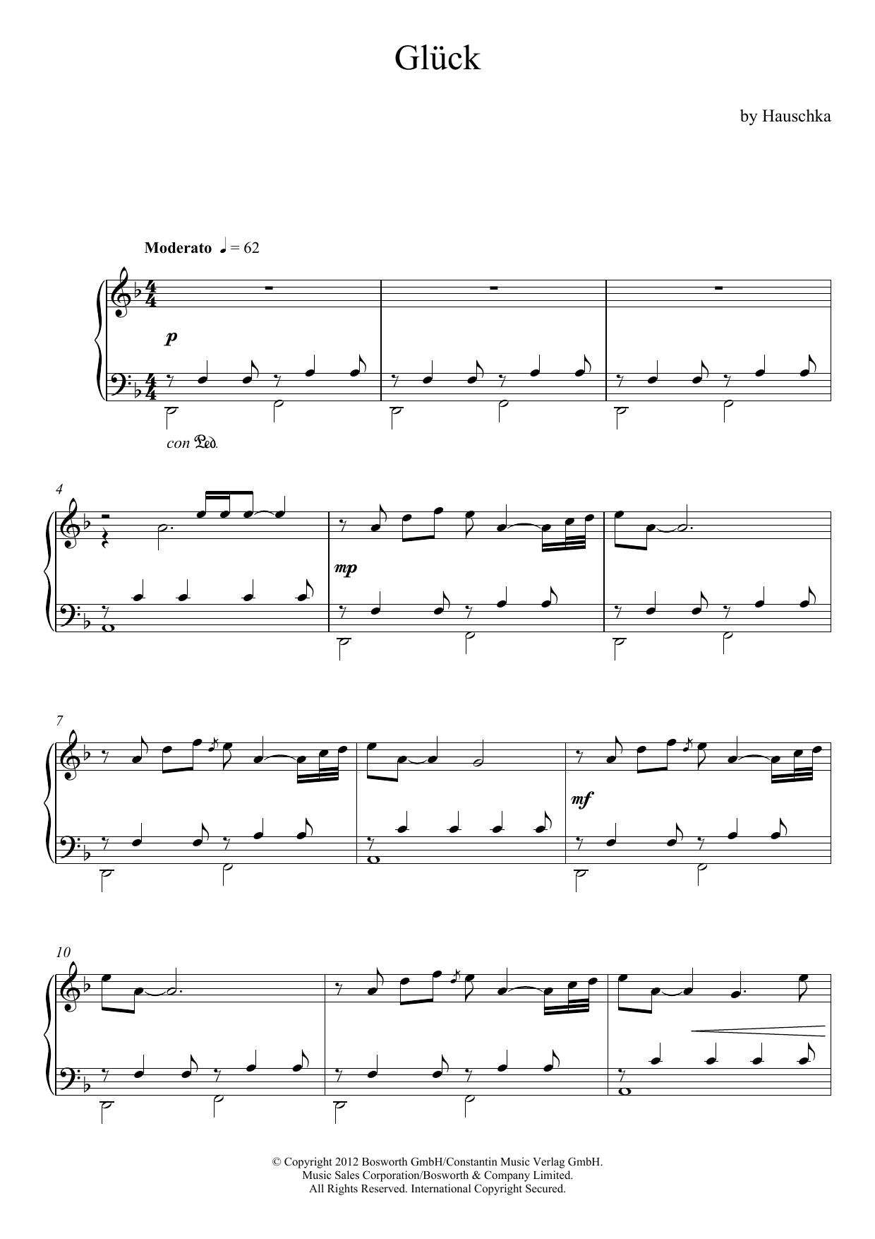 Glueck (Theme) Sheet Music