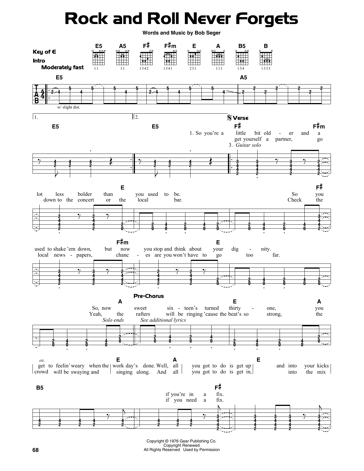 page one of Rock And Roll Never ForgetsASALTTEXT