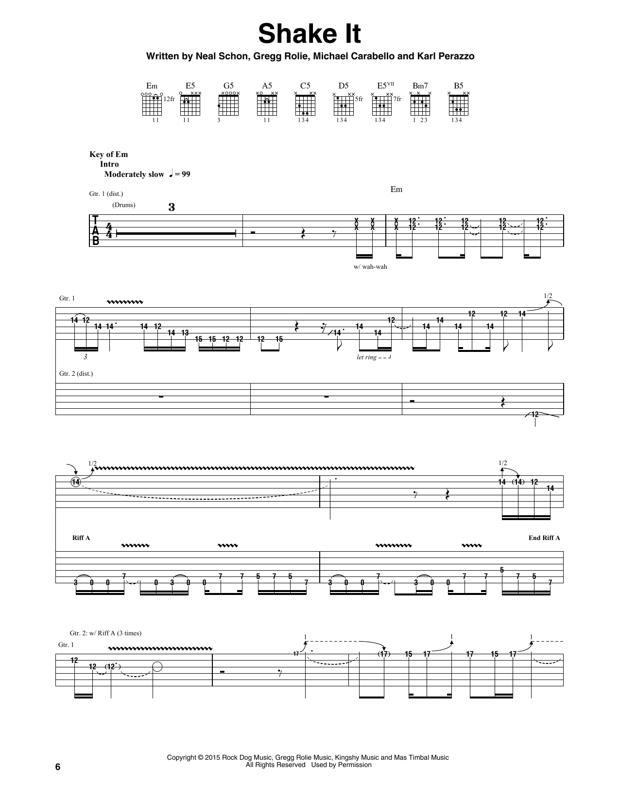 Shake It (Guitar Tab)