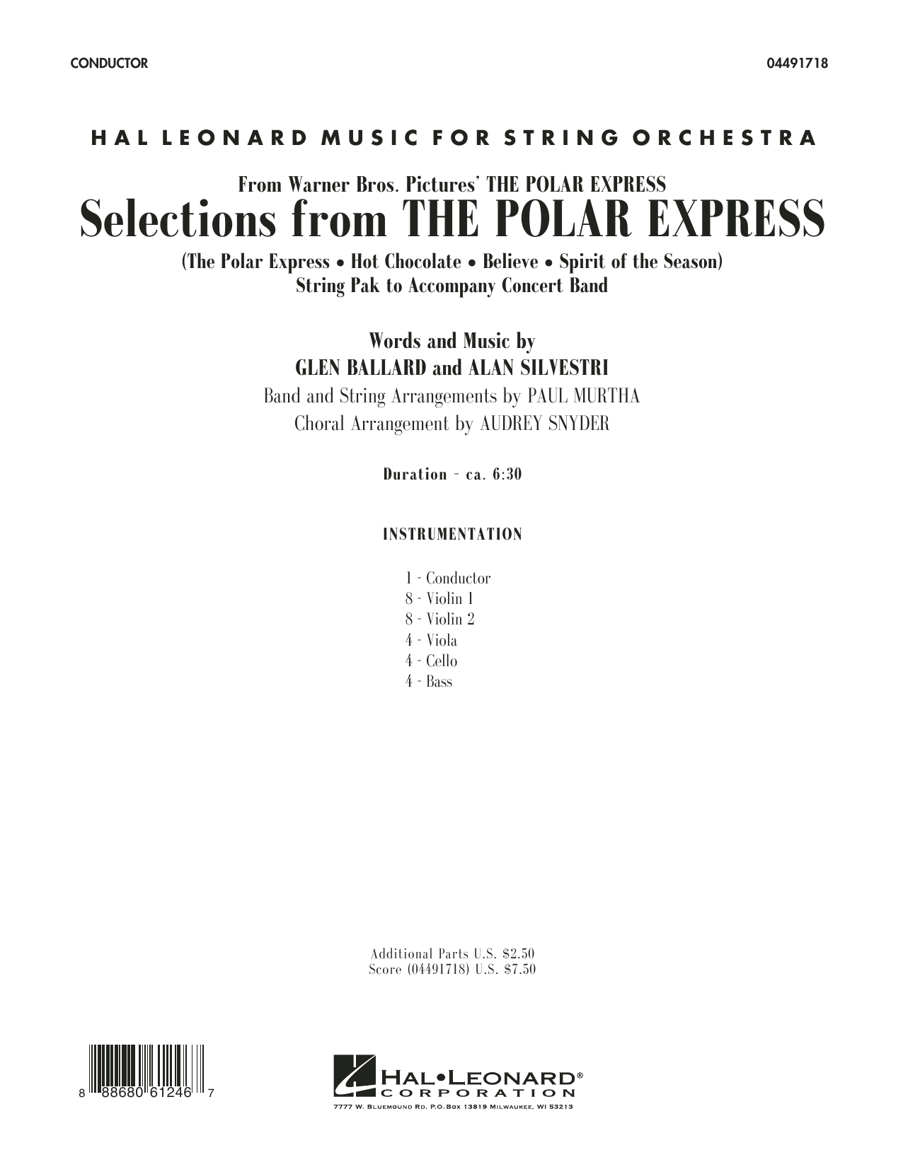 The Polar Express (COMPLETE) sheet music for orchestra by Audrey Snyder and Paul Murtha. Score Image Preview.