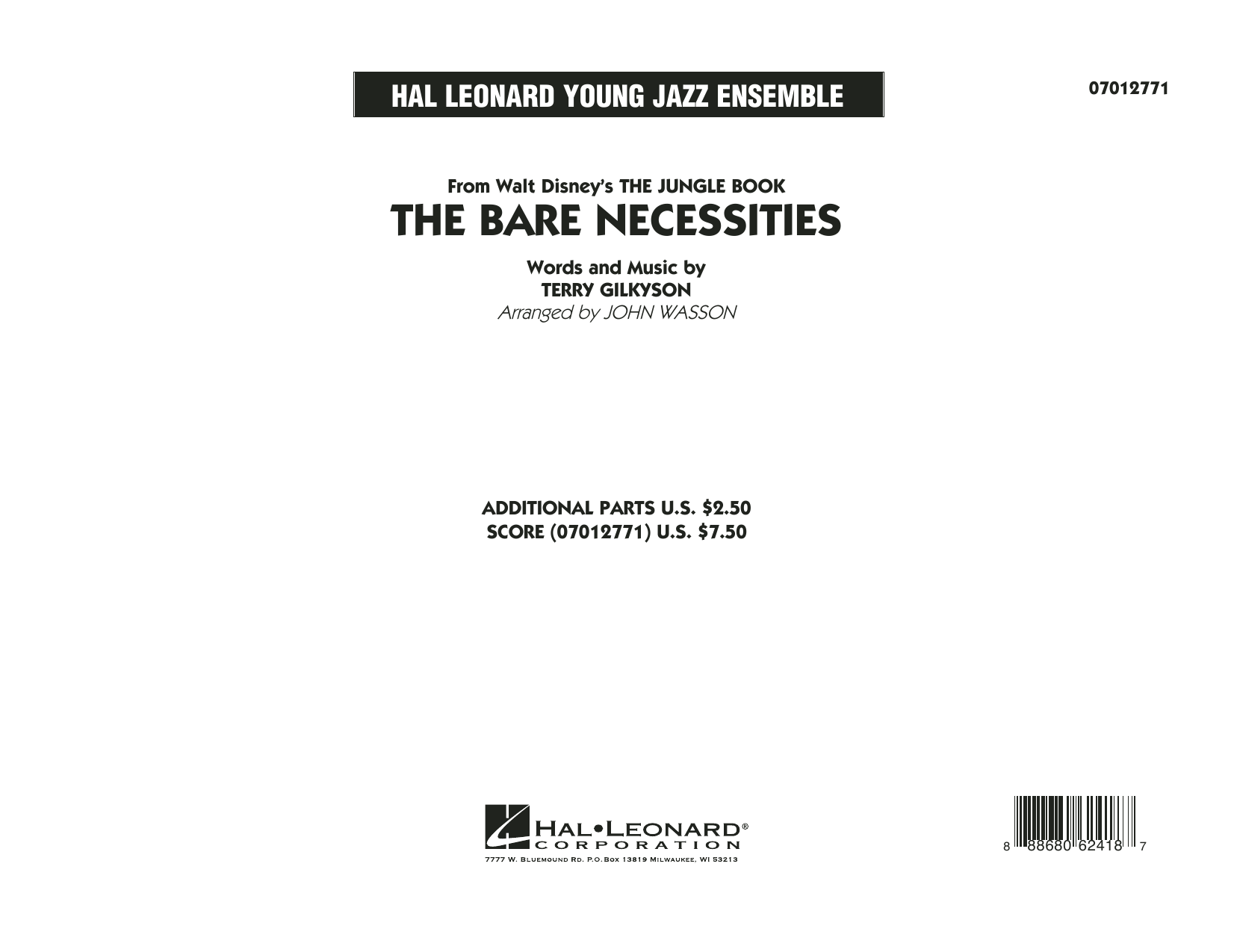 The Bare Necessities (from The Jungle Book) (COMPLETE) sheet music for jazz band by Terry Gilkyson and John Wasson. Score Image Preview.
