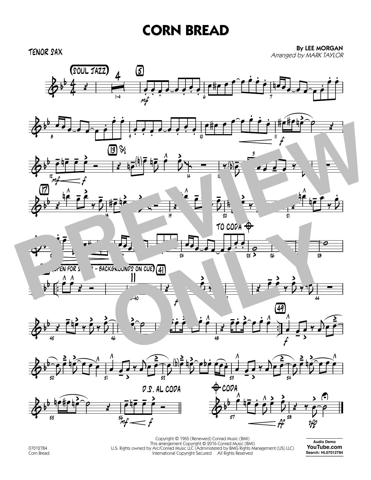 Corn Bread - Tenor Sax (Jazz Ensemble)