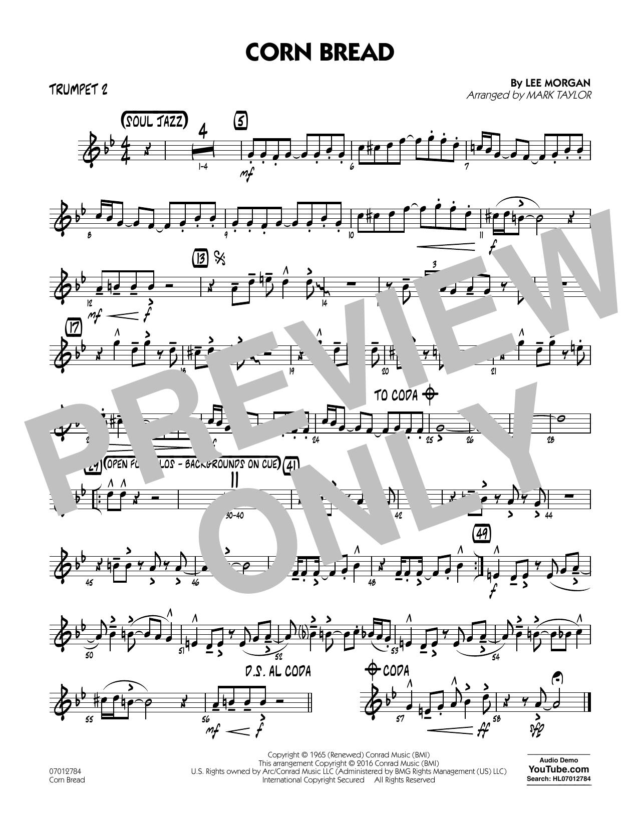 Corn Bread - Trumpet 2 (Jazz Ensemble)