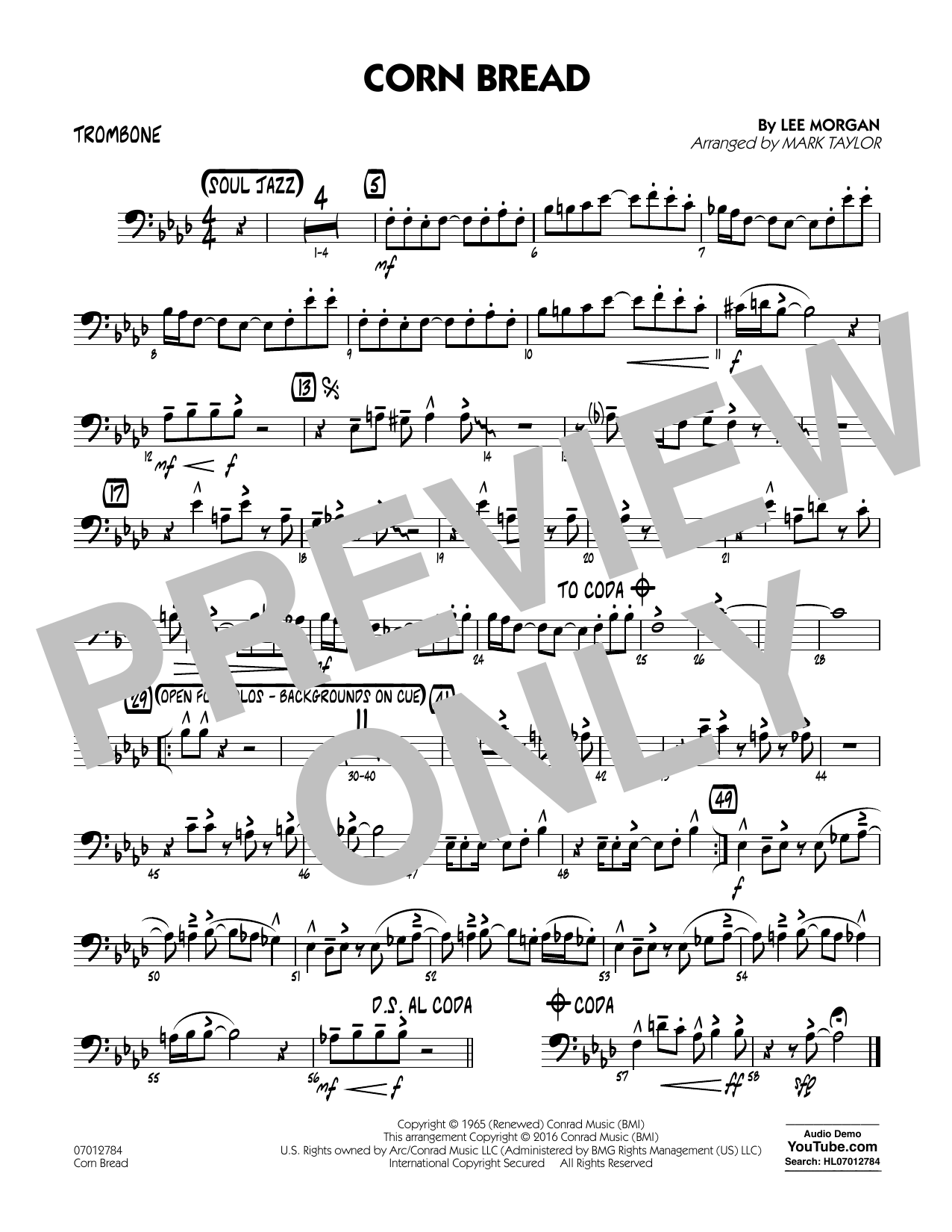 Corn Bread - Trombone (Jazz Ensemble)