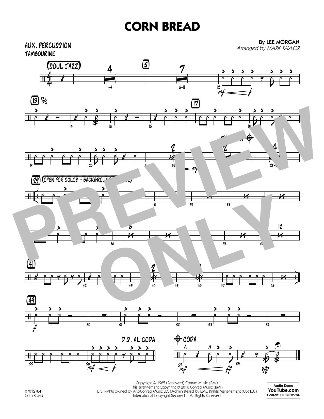 Corn Bread - Aux Percussion (Jazz Ensemble)