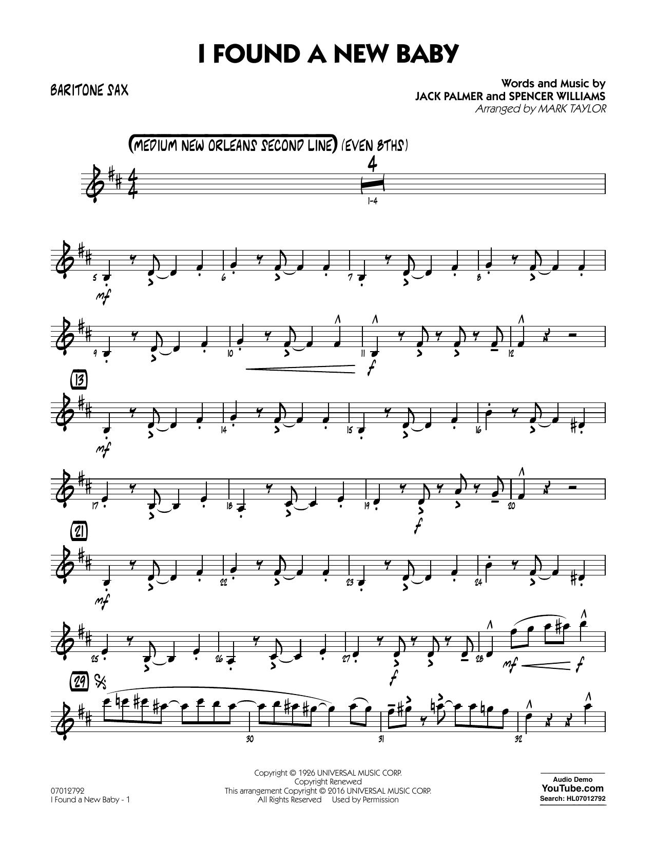 I Found a New Baby - Baritone Sax (Jazz Ensemble)