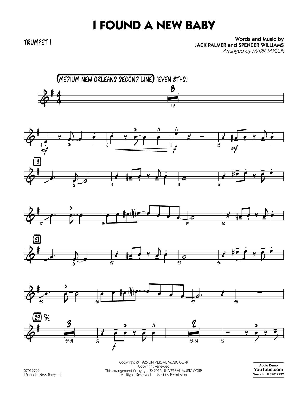 I Found a New Baby - Trumpet 1 (Jazz Ensemble)