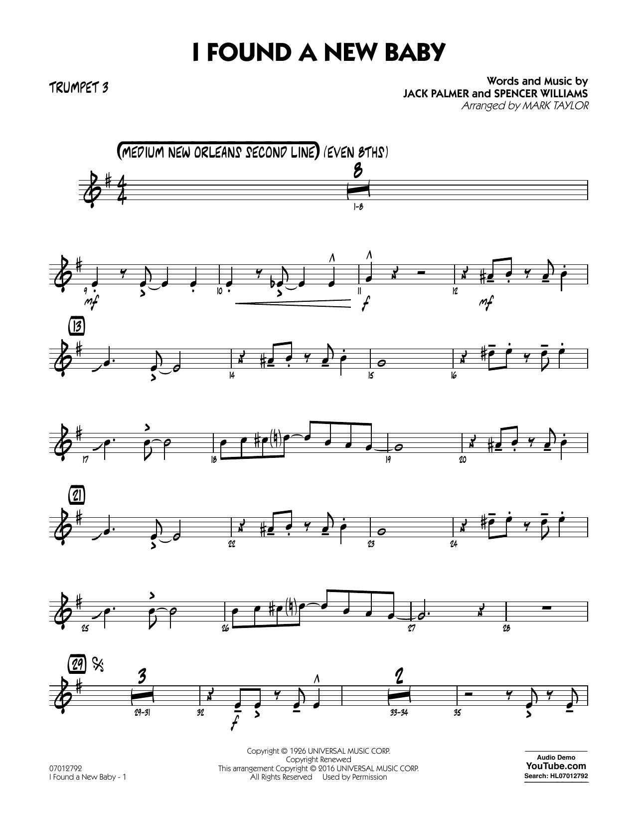 I Found a New Baby - Trumpet 3 (Jazz Ensemble)