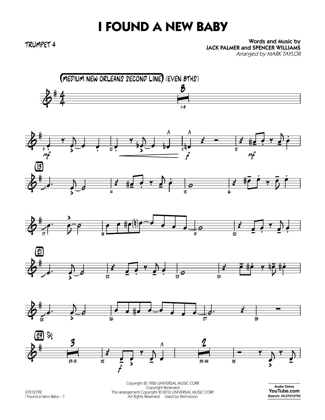 I Found a New Baby - Trumpet 4 (Jazz Ensemble)