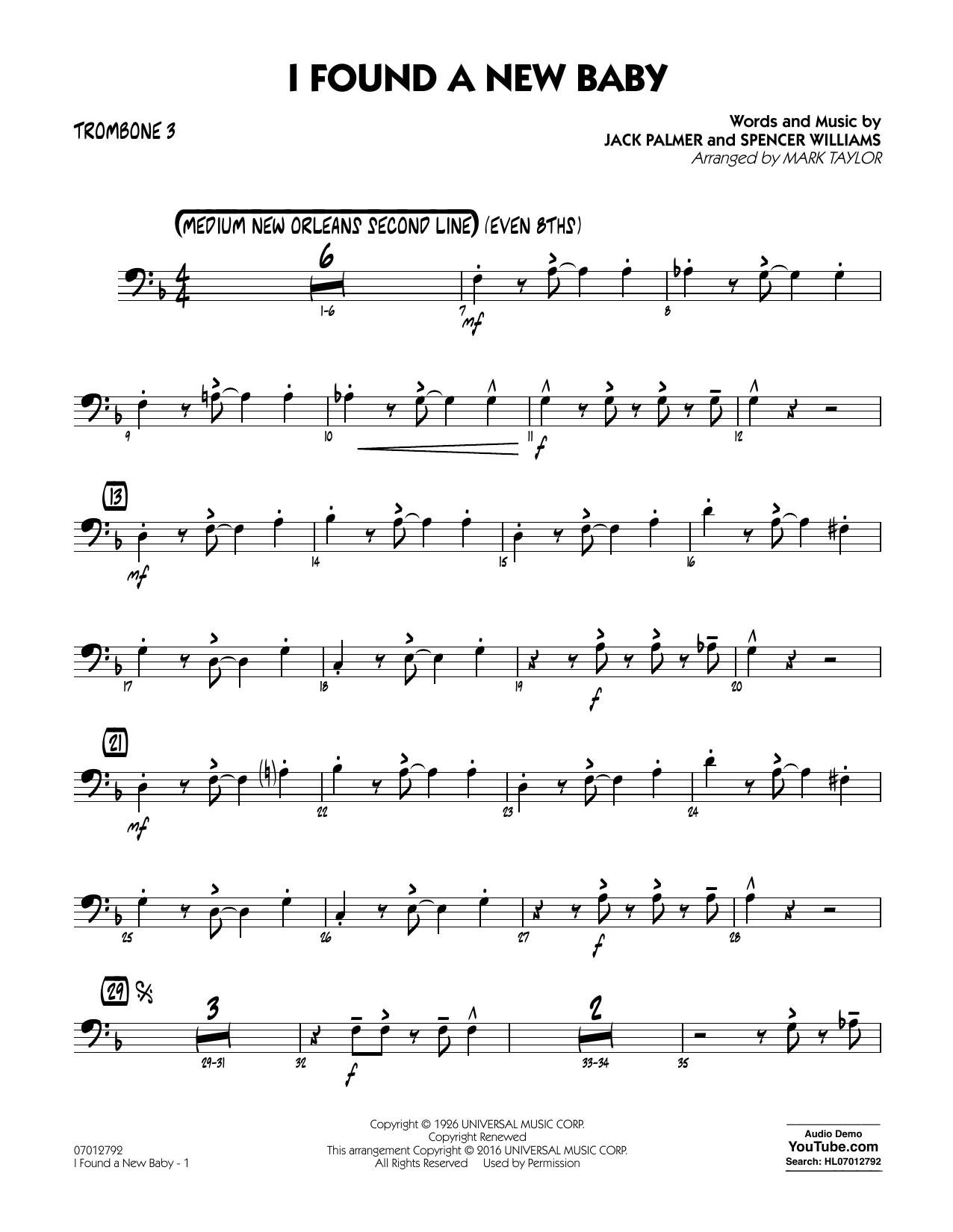 I Found a New Baby - Trombone 3 (Jazz Ensemble)