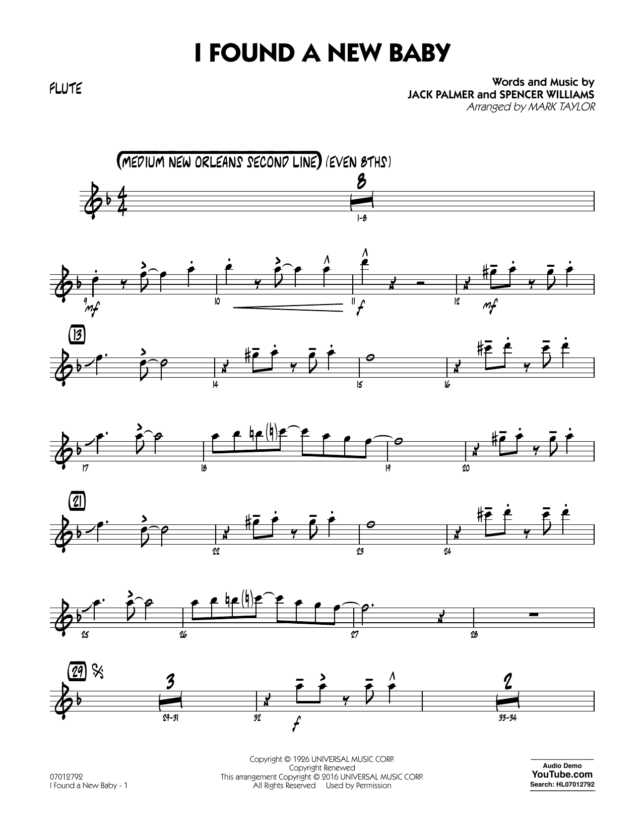 I Found a New Baby - Flute (Jazz Ensemble)