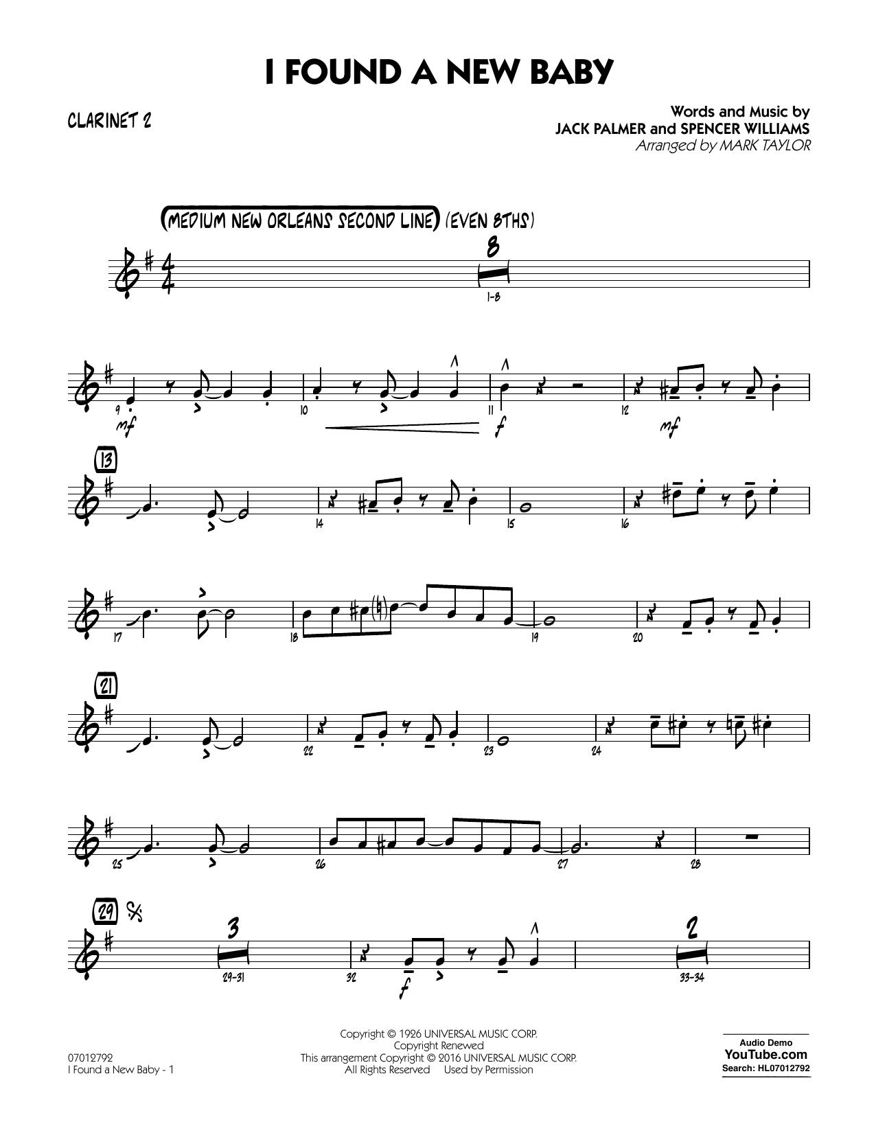I Found a New Baby - Bb Clarinet 2 (Jazz Ensemble)