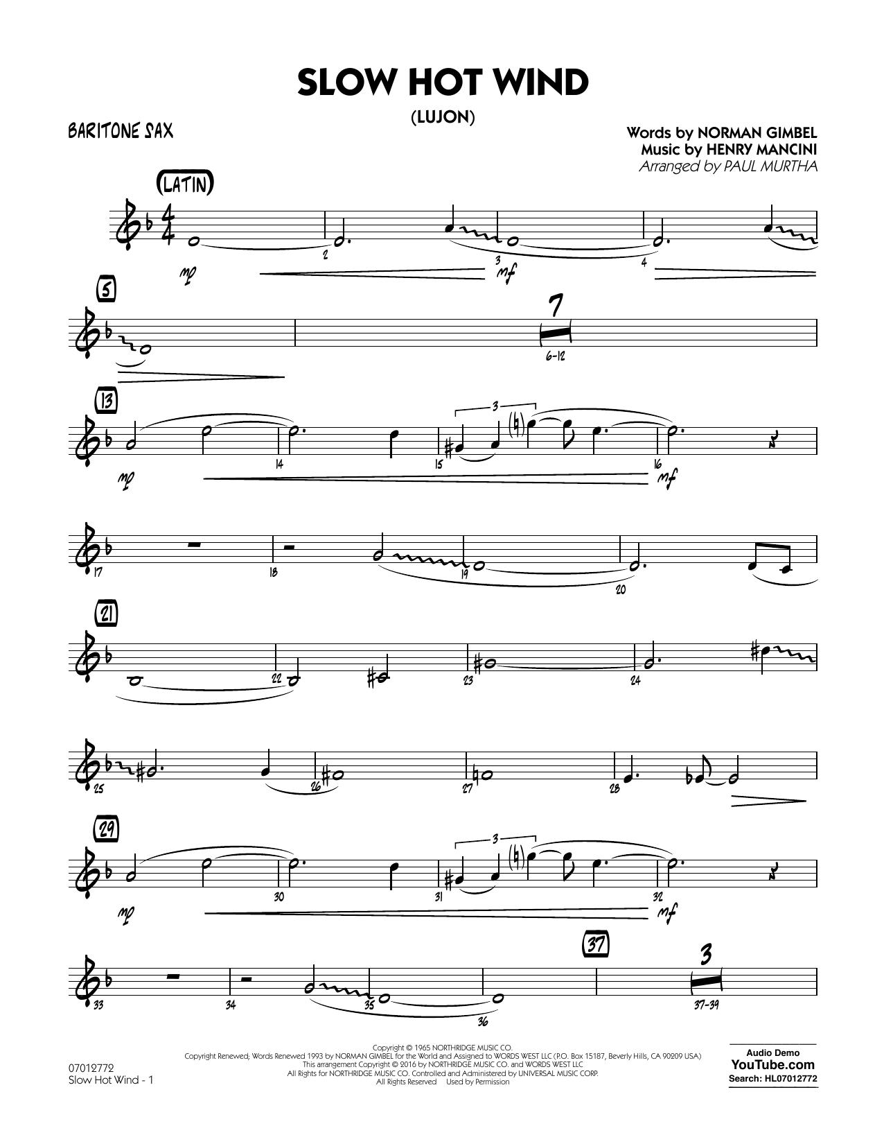 Slow Hot Wind (Lujon) - Baritone Sax (Jazz Ensemble)