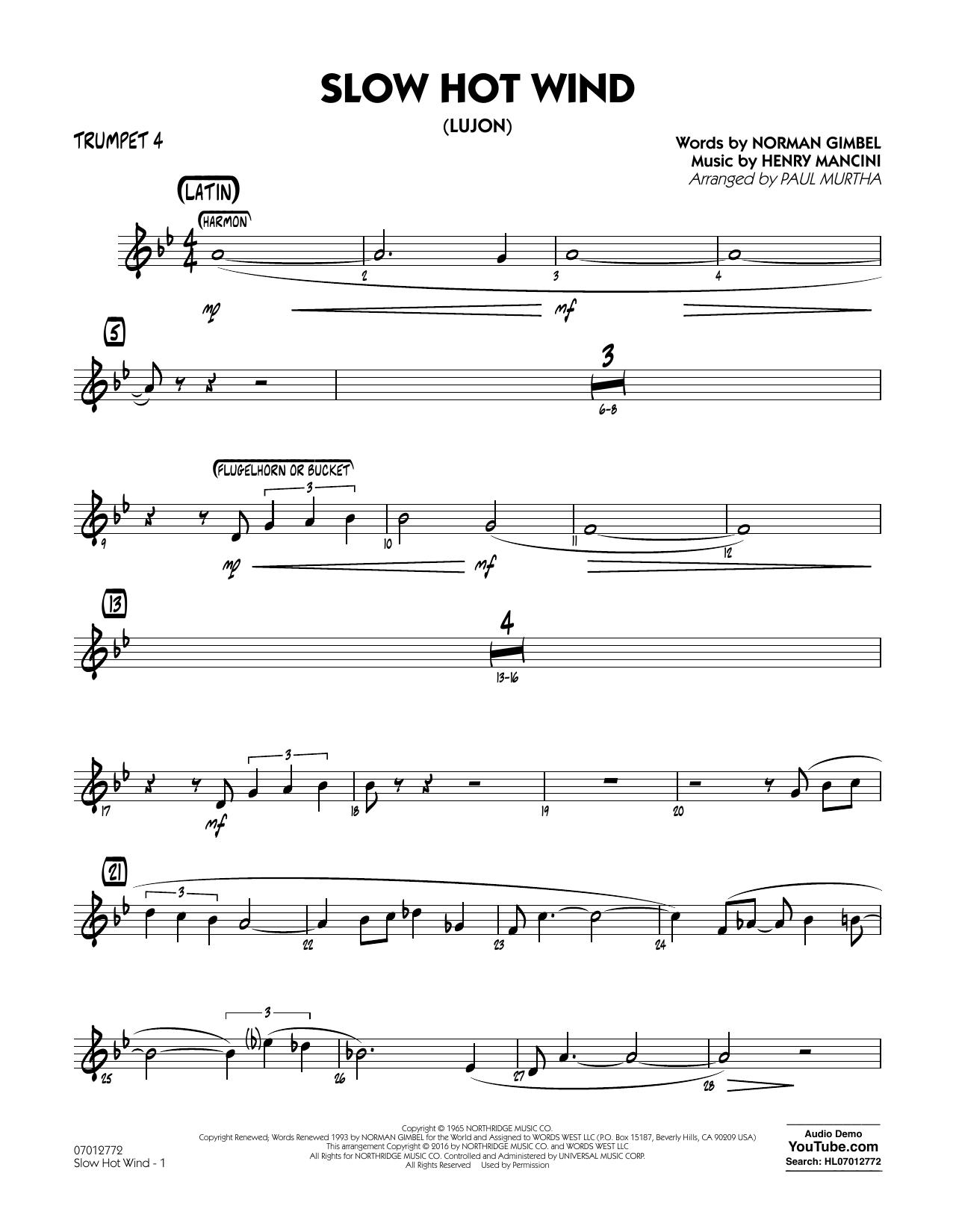 Slow Hot Wind (Lujon) - Trumpet 4 (Jazz Ensemble)