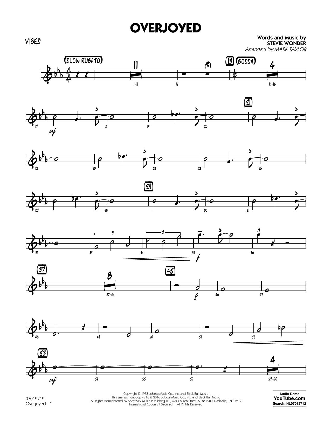 Overjoyed - Vibes (Jazz Ensemble)