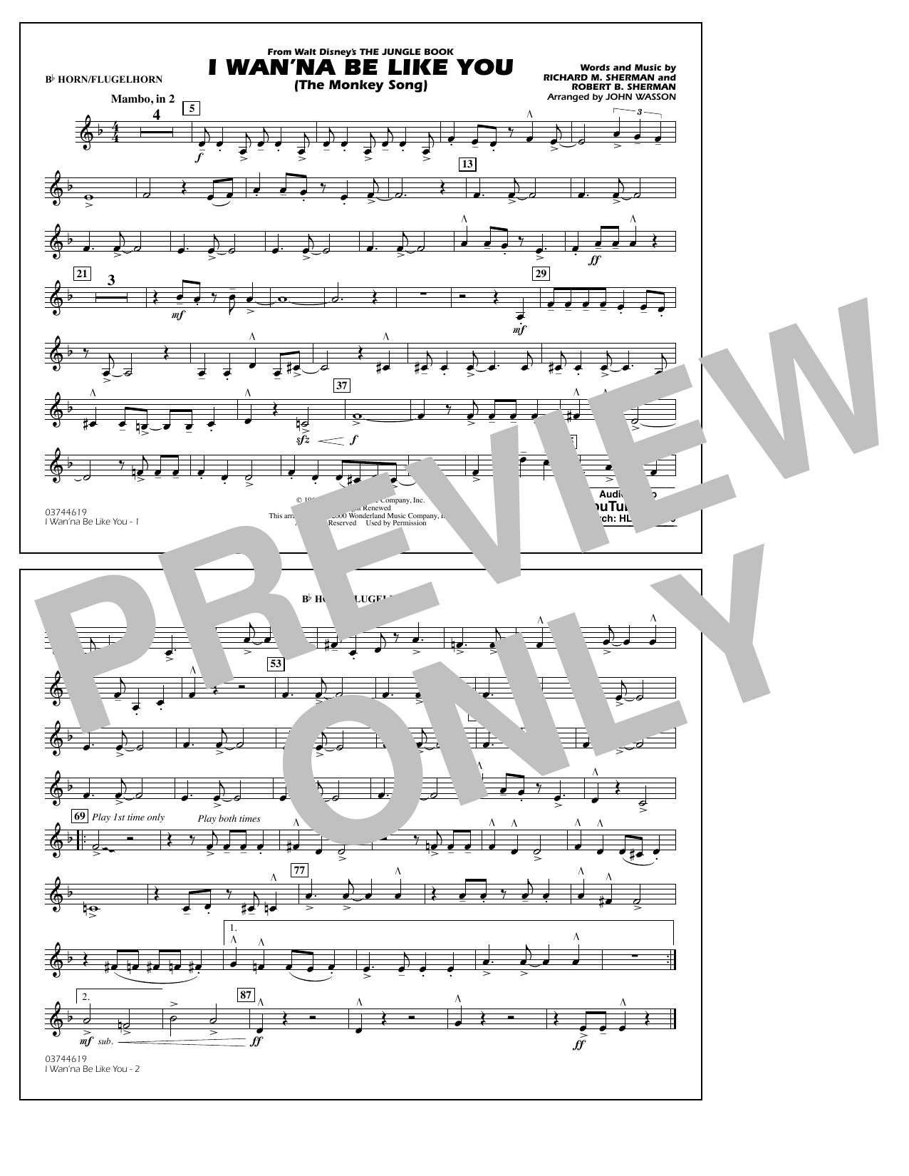 I Wan'na Be Like You - Bb Horn/Flugelhorn (Marching Band)