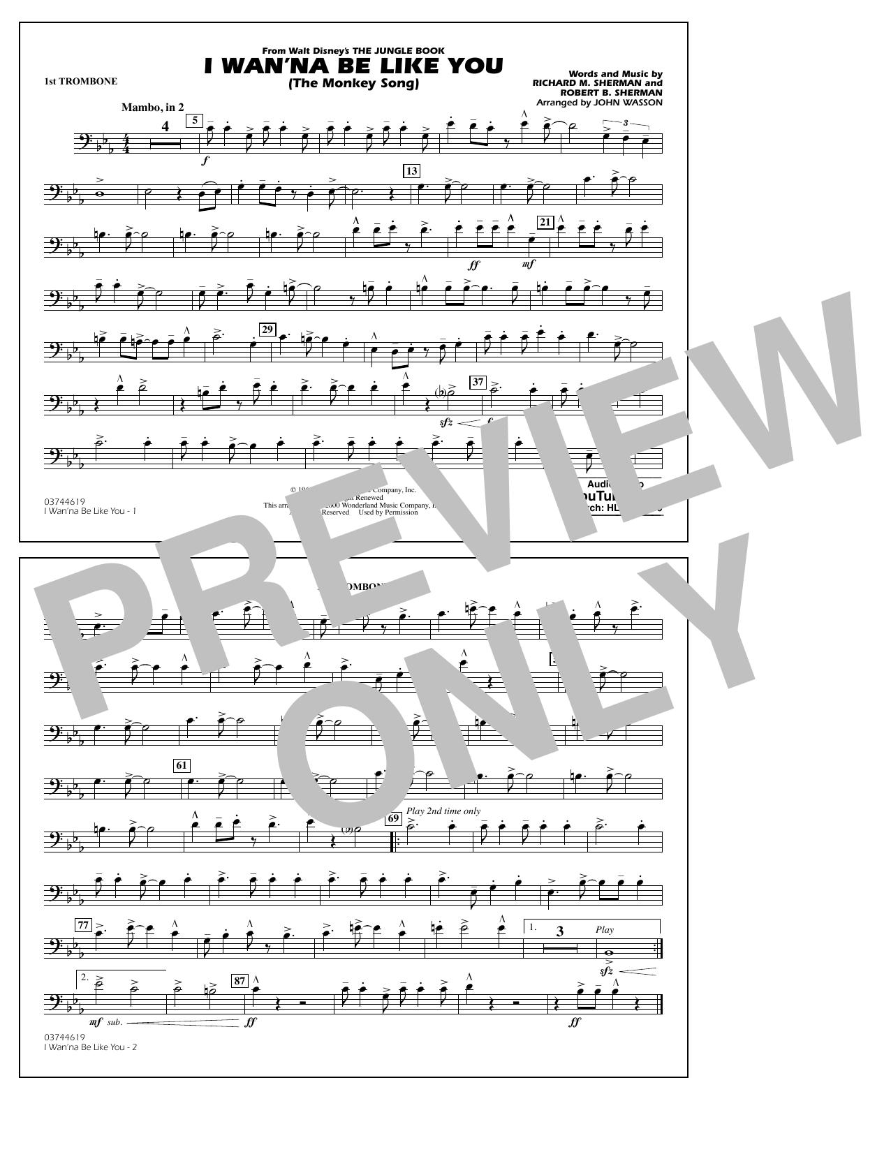 I Wan'na Be Like You - 1st Trombone (Marching Band)