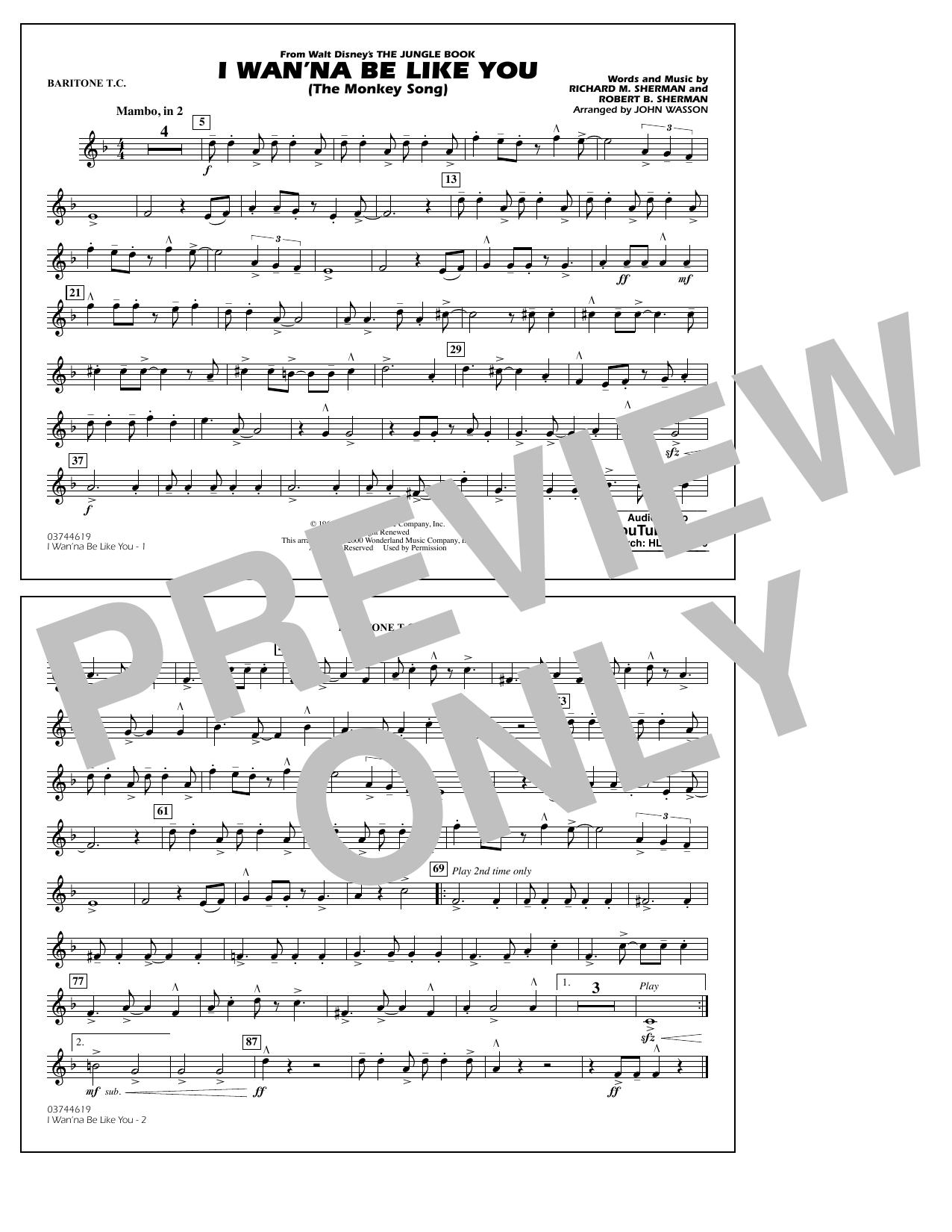 I Wan'na Be Like You - Baritone T.C. (Marching Band)