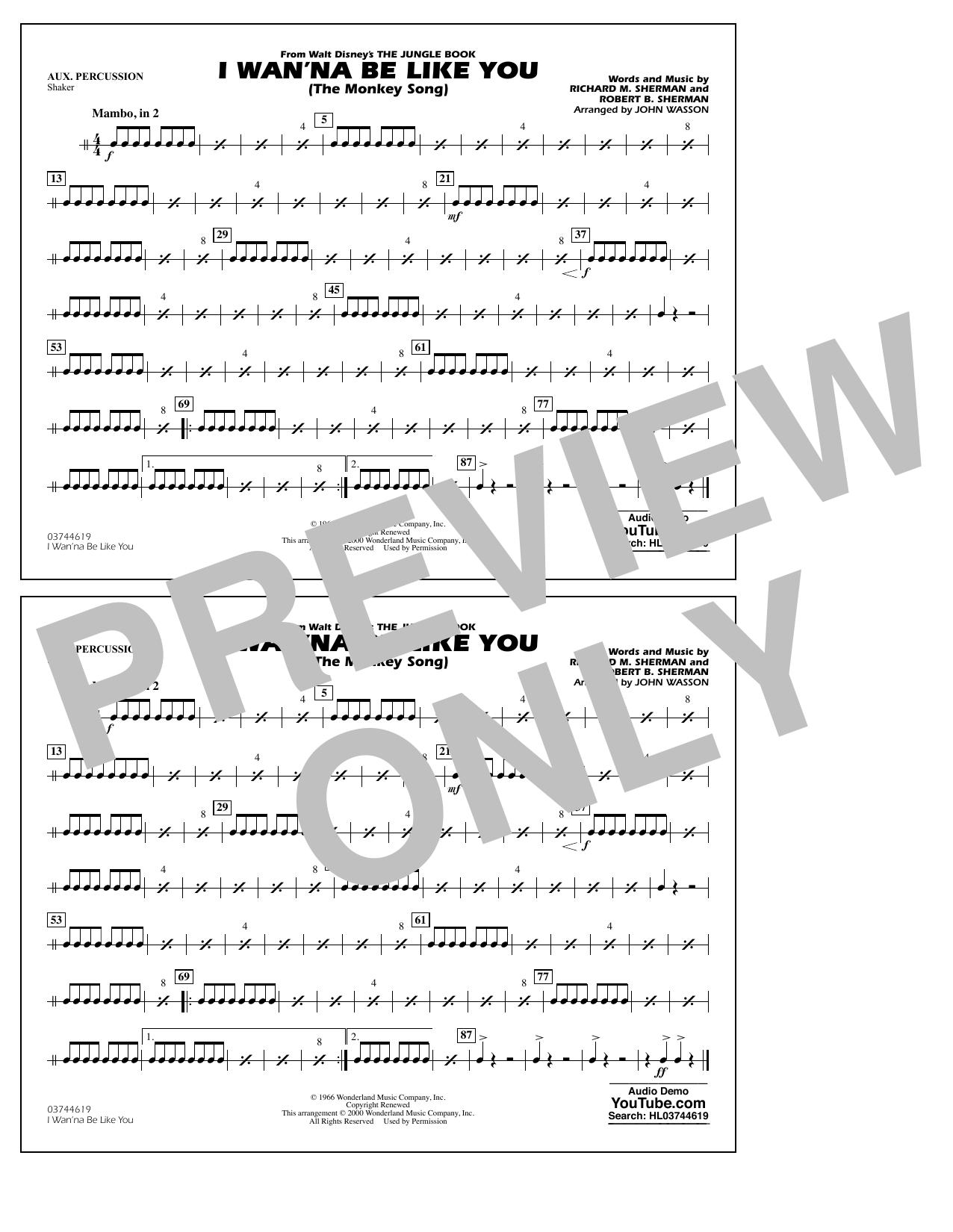 I Wan\'na Be Like You - 2nd Trombone by Richard M. Sherman, Robert B ...