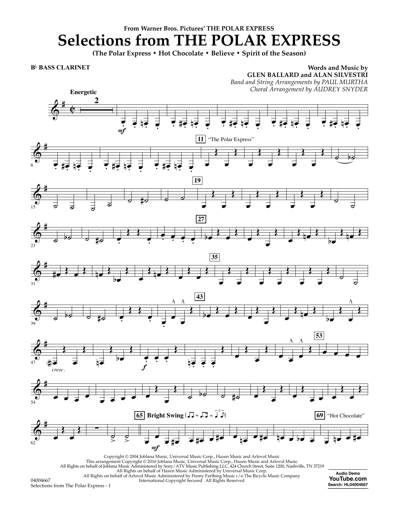 Selections from The Polar Express - Bb Bass Clarinet (Concert Band)