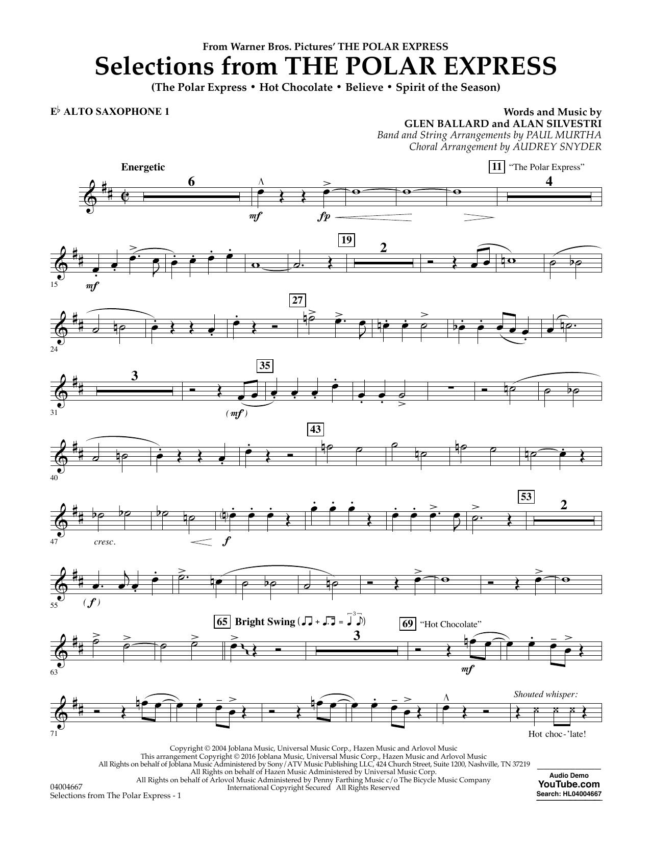 Selections from The Polar Express - Eb Alto Saxophone 1 (Concert Band)