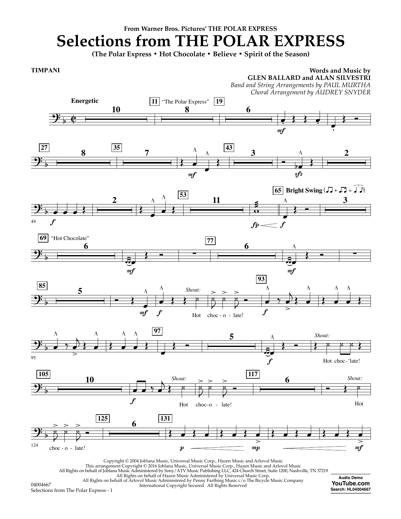 Selections from The Polar Express - Timpani (Concert Band)