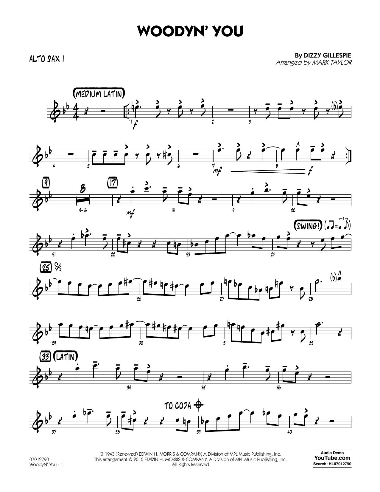 Woodyn' You - Alto Sax 1 (Jazz Ensemble)