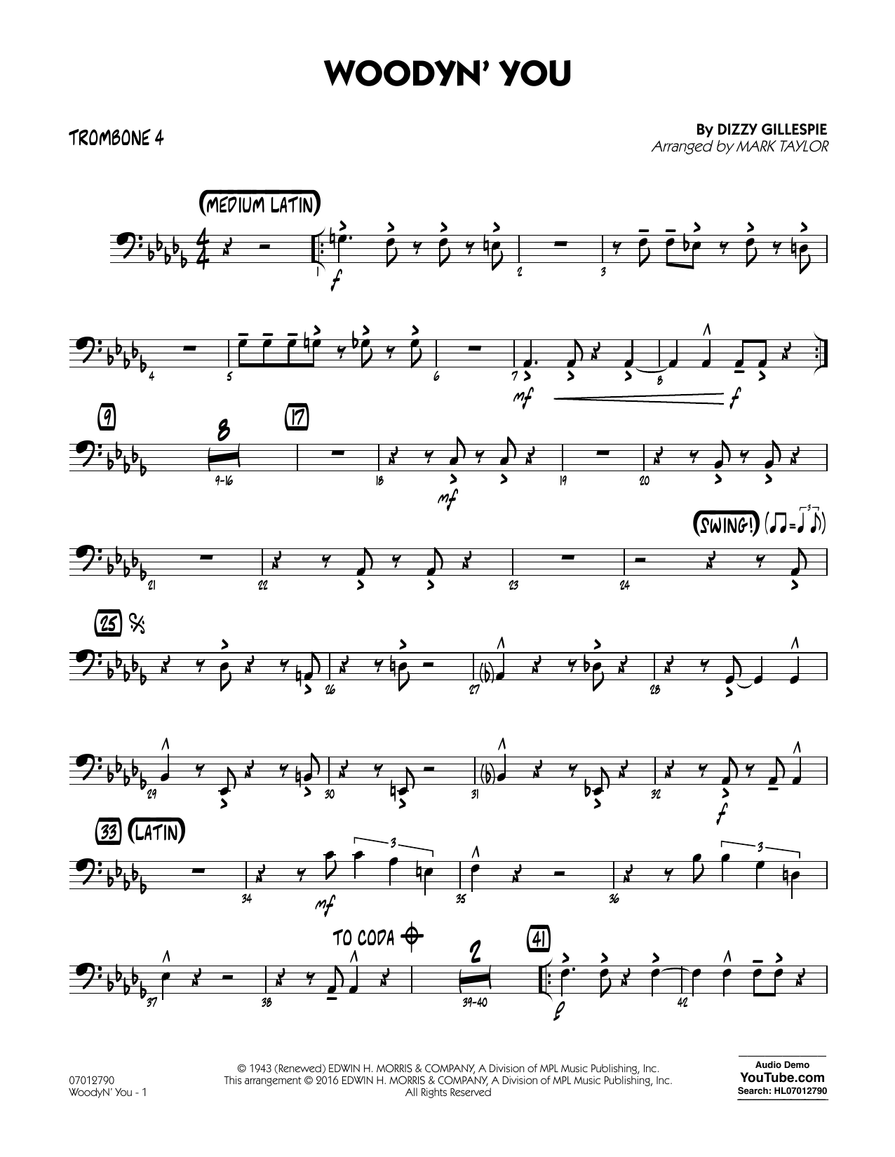 Woodyn' You - Trombone 4 (Jazz Ensemble)