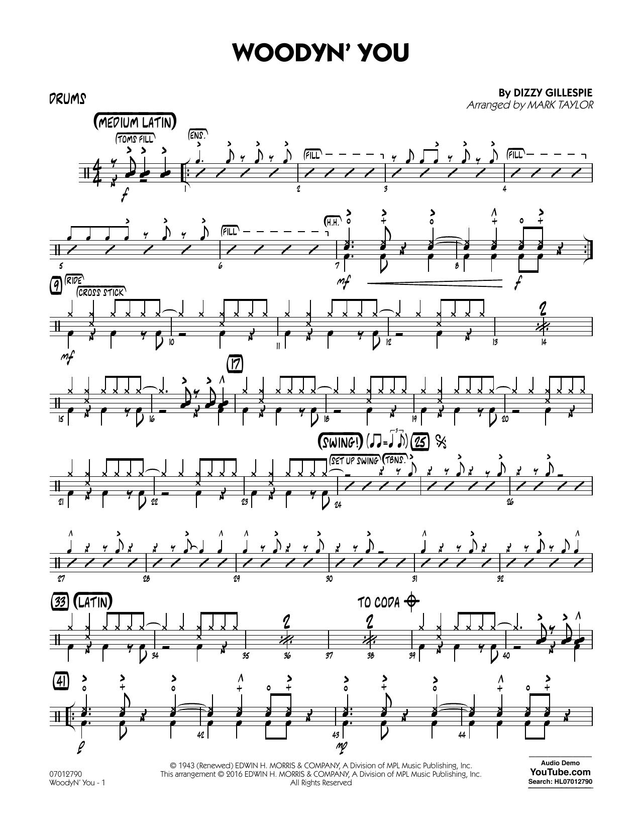 Woodyn' You - Drums (Jazz Ensemble)