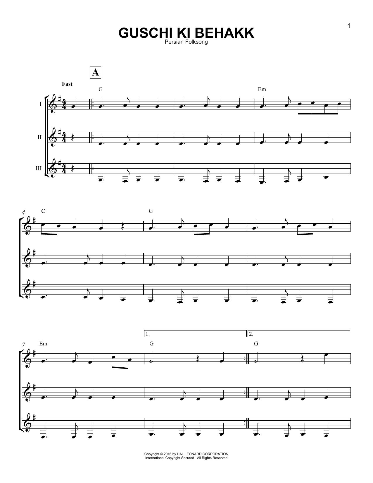 Guschi Ki Behakk Sheet Music