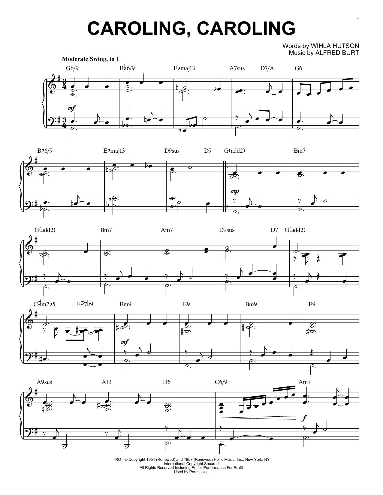Caroling, Caroling (Piano Solo)